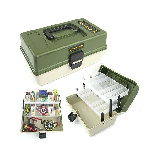 Roddarch Fishing Tackle Box 2 Tray Cantilever 'Tough Box' Sea Coarse Game Fishing