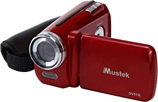 Mustek DV518L-RED Digital Video Camera (Red) (Discontinued by Manufacturer)