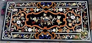 Dessus de table de salle à manger 61 x 122 cm en marbre avec décoration maison