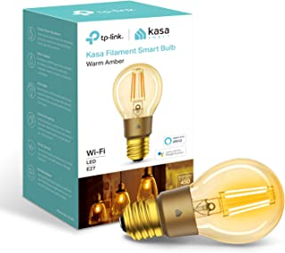 Kasa Smart Bulb by TP-Link, WiFi Filament Light Bulb, E27, 5W, No Hub Required, Works with Amazon Alexa (Echo and Echo Do...