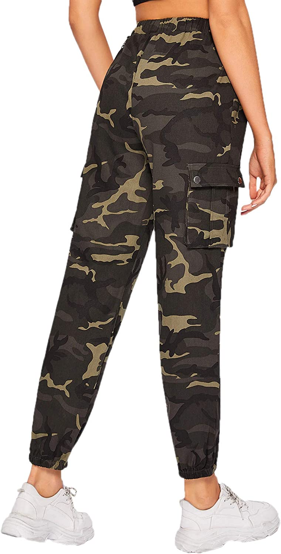 tasche laterali pantaloni sportivi SOLY HUX Pantaloni da donna mimetici