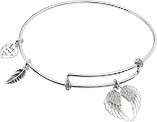 Best sterling silver angel wings charm Reviews