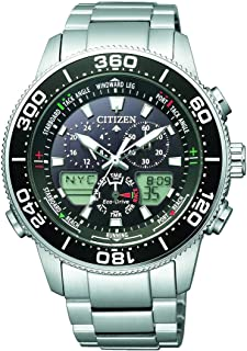 CITIZEN Mens Solar Powered Watch, Analog- Digital Display and Solid Stainless Steel Strap - JR4060-88E