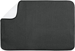 InterDesign iDry Kitchen Counter Absorbant Drying Mat Solid - X-Large, Black/White