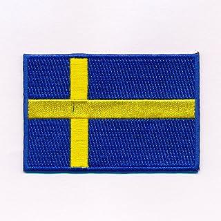 60 x 35 mm Zweden vlag Sweden vlag Stockholm patch patch opnaaimachine 0641 B
