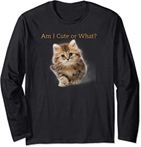 Cute Kitten T-shirt long sleeve