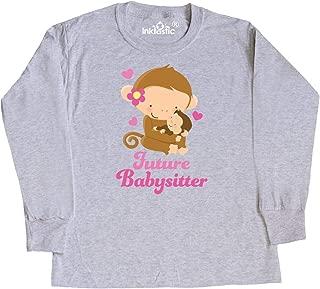 Future Babysitter Monkey Youth Long Sleeve T-Shirt