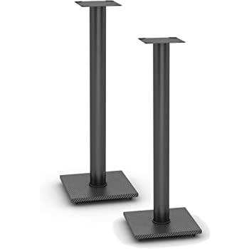 Atlantic Adjustable Speaker Stands 10-Pack Black - Steel Construction,  Pedestal Style & Wire Management for Bookshelf Speakers up to 100 lbs  PN10