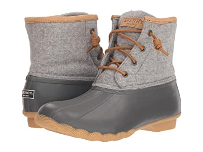 Sperry Saltwater Emboss Wool (Dark Grey) Women