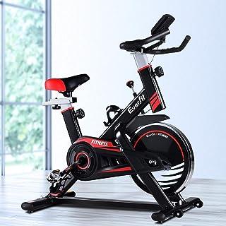 Everfit Spin Exercise Bike Stationary Flywheel Home Gym Fitness Indoor Cycling Adjustable Resistance Workout Pulse Sensor ...