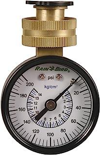 "Rain Bird P2A Water Pressure Test Gauge, 3/4"" Female Hose Thread, 0-200 psi"