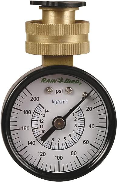 Rain Bird P2A Water Pressure Test Gauge 3 4 Female Hose Thread 0 200 Psi