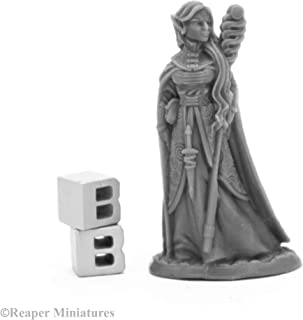 Reaper Miniatures: 44008 - Anthanelle Female Elf Wizard Bones Black Fantasy Plastic Miniature
