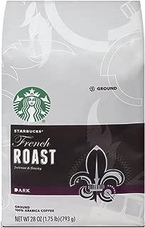 Starbucks French Roast Dark Roast Ground Coffee, 28-ounce bag