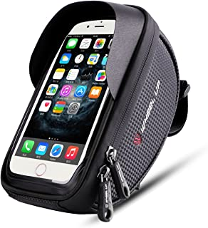 Wallfire Bike Phone Mount Bag, Bicycle Frame Bike Handlebar Bags with Waterproof Touch Screen...
