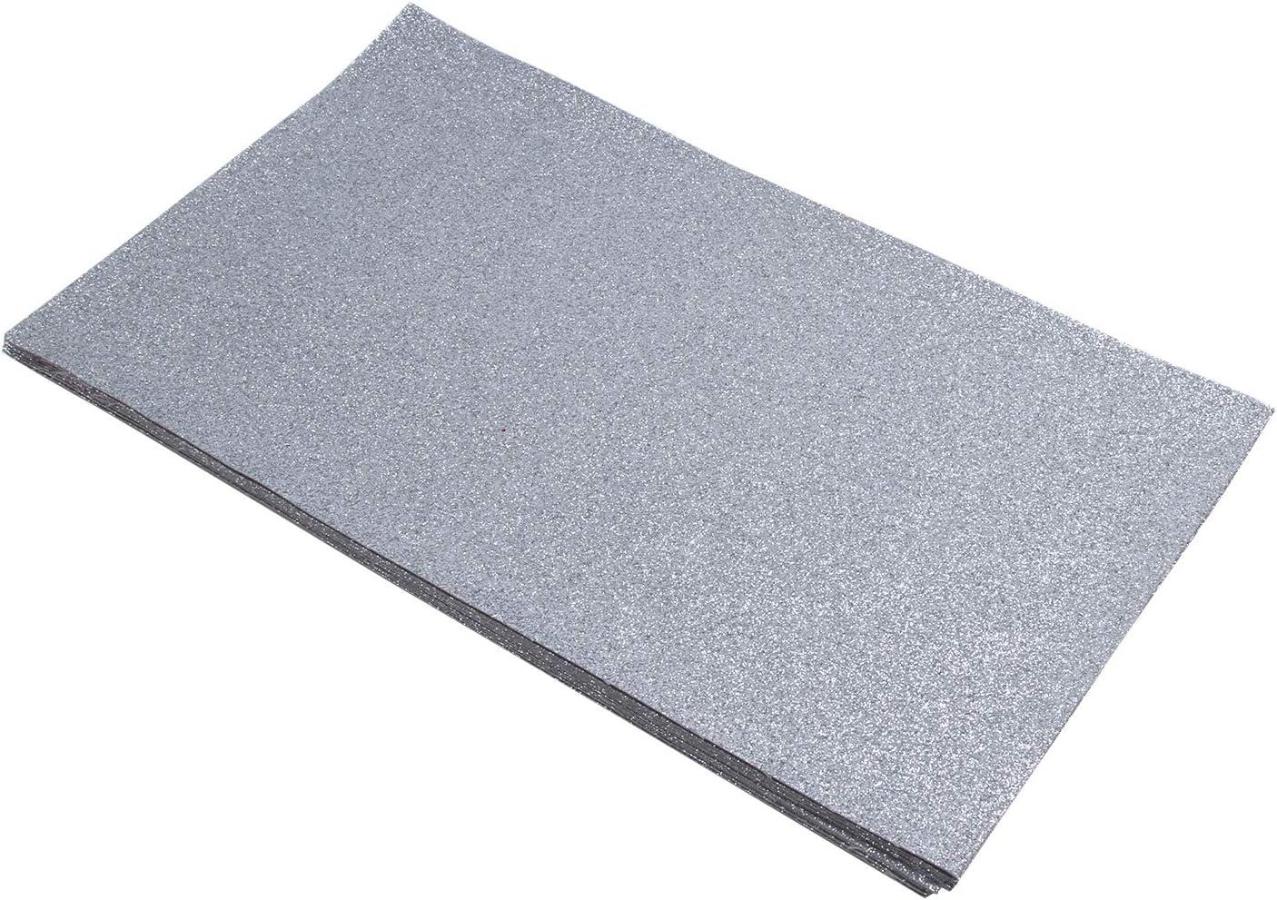 Shine Glitter Sheet Fabrics Back Stiff DIY Pack New York Mall 12 x13 8 Max 90% OFF I Craft