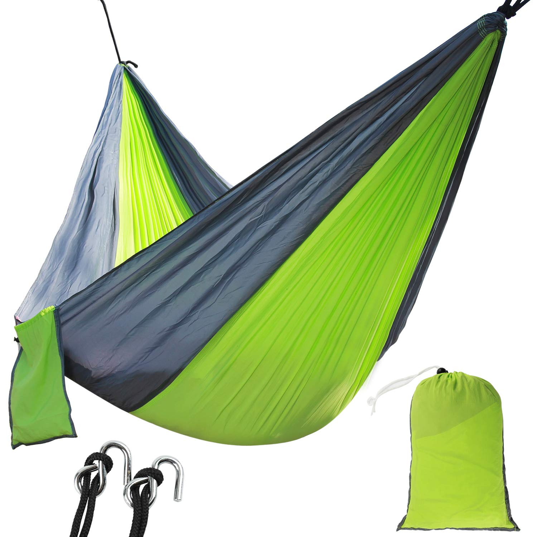 Travel Lightweight Nylon Parachute Hammocks for Backpacking Backyard Beach Hiking Patio Camping Hammock Single Portable Hammocks with 2 Tree Straps