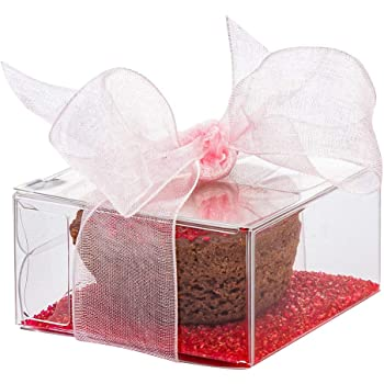 Candy Box 100ct Party and Baby Shower Favors 1.4L x 1.5W x 6.3H 1.4L x 1.5W x 6.3H Party and Baby Shower Favors Clear Gift Boxes for Wedding Tuck Top with Pop /& Lock Bottom 100ct Restaurantware RWP0377C Tuck Top with Pop /& Lock Bottom