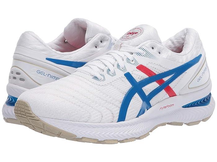 ASICS  GEL-Nimbus 22 (White/Electric Blue) Womens Running Shoes