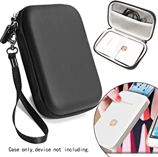Matte Black Carrying and Storage Case Travel Bag for HP Sprocket Plus Instant Photo Printer, Mobile Printer Plus, Instant Photo Printer, Inner Pocket for Printing Paper, Cable and Other Accessories