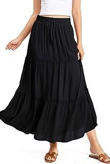 Ambiance Apparel Women's Juniors Boho Maxi Skirt