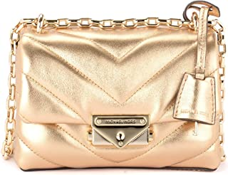 Michael Kors Woman's Michael Kors Cece Extra Small Shoulder Bag In Gold Quilted Leather. Gold