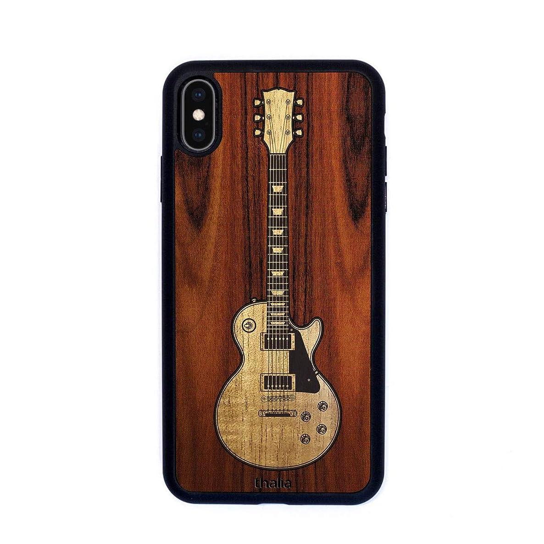 Santos Rosewood & Les Paul Hawaiian Koa Inlaid Guitar Phone Case | Thalia Exotic Wood Cases iPhone Xs Max