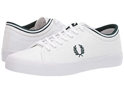 Fred Perry Kendrick Tipped Cuff Canvas (White/Ivy) Men
