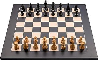 Engelhart – 170490-170491 - Jeu d'échecs de Luxe en Bois marqueté - pièces d'échecs dans Un Coffret en Bois Naturel – Haut...