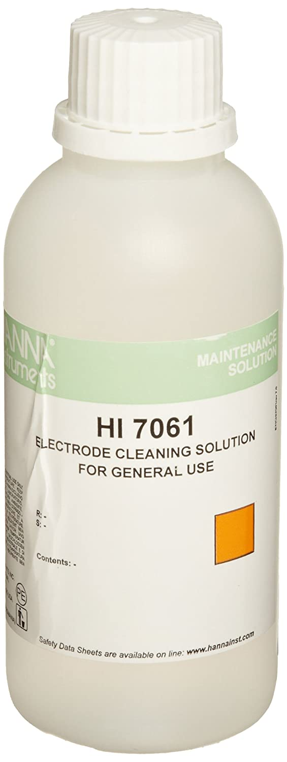 Hanna Instruments HI 7061M Electrode New product 230mL Manufacturer regenerated product Cleaning Solution Bo
