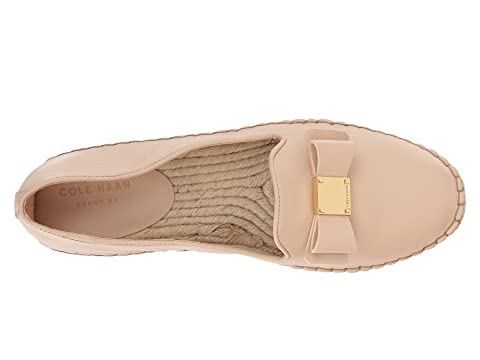 Cole Espadrille Leather LeatherWhite Haan Bow Tali Nude wqPCgwSB