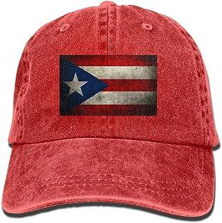 d85f17cb Docaphat-7 Baseball Cap for Men and Women, Retro Puerto Rican Flag Design  and