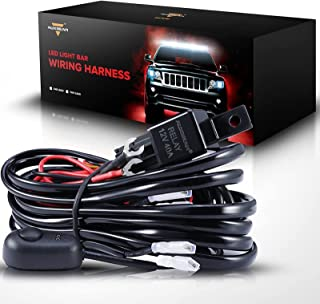 Auxbeam Wiring Harness for LED Light Bar 12V 40Amp Fuse Relay ON/Off Switch (2 Lead 2 Meter Universal)