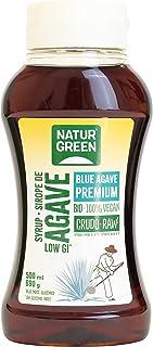 NaturGreen - Sirope Agave Crudo Bio, Endulzante Ecológico, Bajo Índice Glucémico, Apto para Ser Consumido Directamente, Si...