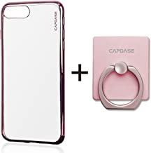 CAPDASE iPhone 8 Plus iPhone 7 Plus Case Soft Jacket Verge Clear Rose Gold With Detachable Stand Finger Ring Holder SJIH7P-VE04