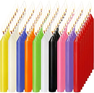 MUOIVG 100 Bougies Chandelles,Candle, Kerzen Kleine Dripless pour carillons, magie, église, veillée aux chandelles, rituel...