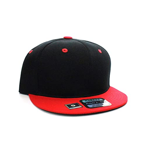 D I Classic Blank Snapback Flat Bill Visor Hat Cap w Adjustable Snap Back 644ed00bdd6