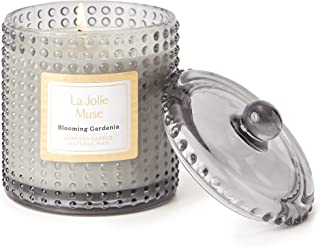LA JOLIE MUSE Blooming Gardenia Scented Candle, Natural Wax Candle with Floral Aroma, 75 Hours Long Burning, Glass Jar for...
