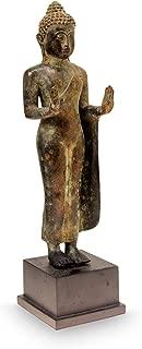NOVICA 226466 Abhaya Mudra Buddha' Bronze Statuette