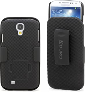 Aduro Galaxy S4 Case, Combo Shell & Holster Case Super Slim Shell Case w/Built-in Kickstand + Swivel Belt Clip Holster for Samsung Galaxy S4