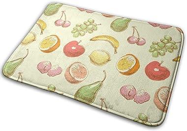 Fruits Art Carpet Non-Slip Welcome Front Doormat Entryway Carpet Washable Outdoor Indoor Mat Room Rug 15.7 X 23.6 inch