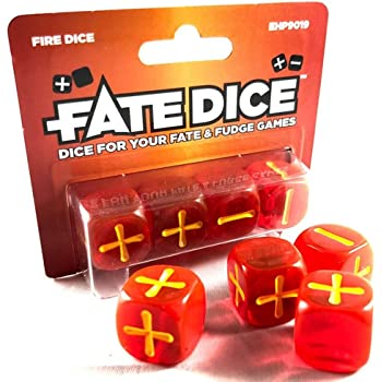 Fate Core Dice Atomic Robo Flat River Group EHP9006
