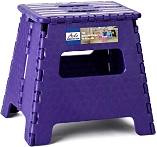 ACKO Folding Step Stool 13 inch Plastic Folding Stool,Kitchen Step Stool,Upgraed Foldable Step Stool for Kids and Adults,P...