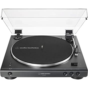 Audio-Technica AT-LP60XBT-BK Fully Automatic Wireless Belt-Drive Turntable (Black) (ATLP60XBTBK)