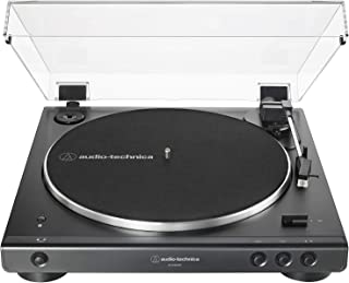 Audio Technica AT-LP60XBT-BK Bluetooth Wireless Fully Automatic Belt-Drive Turntable 33/45 RPM Speeds with Phono Preamp In...