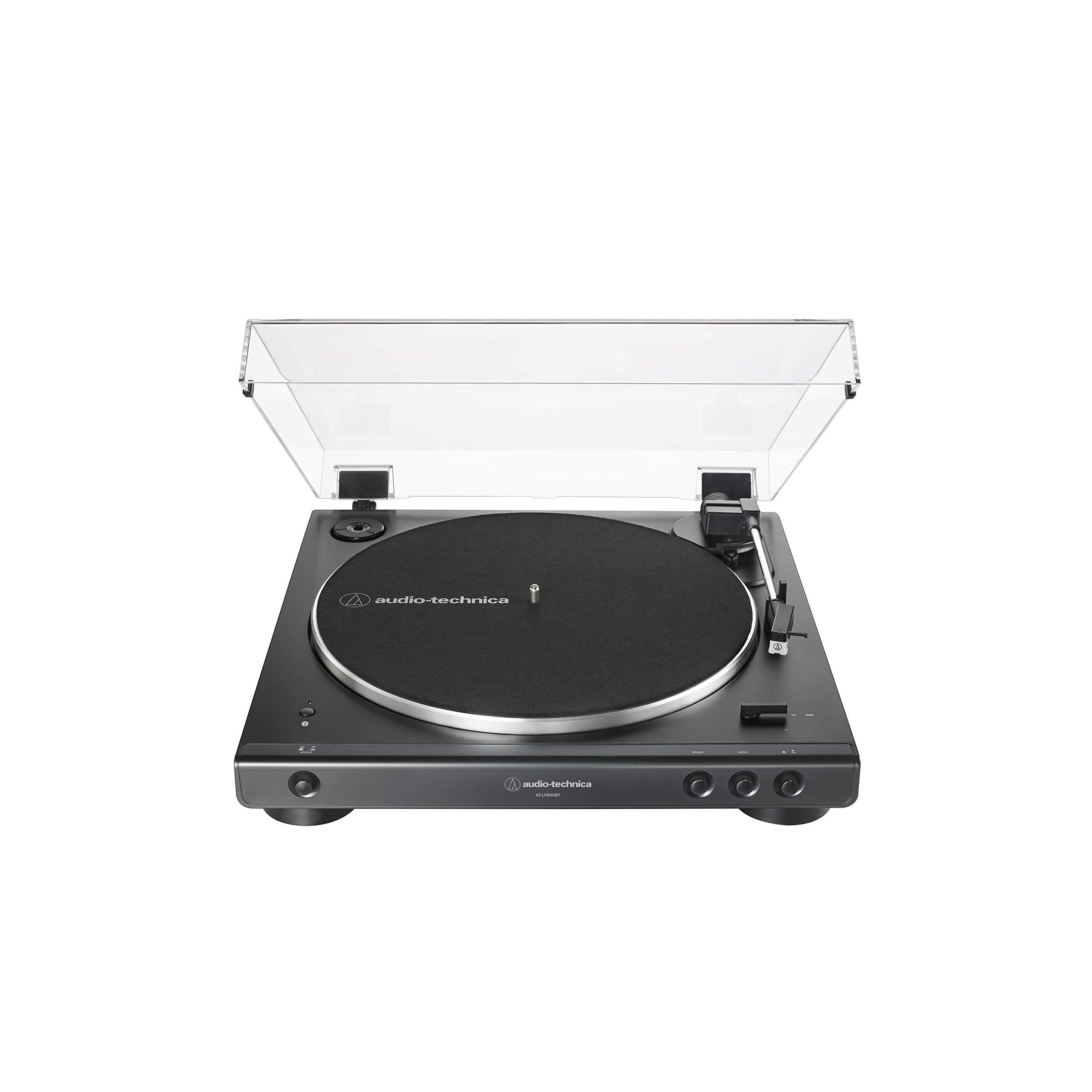 Audio Technica AT LP60XBT BK Belt Drive Hi Fidelity Anti Resonance