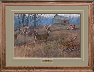 Reflective Art, Junkyard Hog, Walnut Framed, 26 by 34-inch