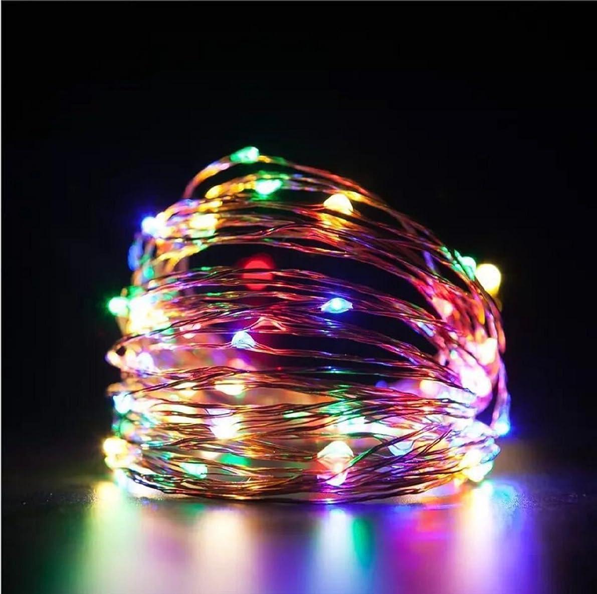 大陸アセ突進イルミネーションライト Araretyan クリスマス 飾りライト ストリングライト LED 10m ワイヤーライト ストリングスライト 結婚式 パーティー (マルチカラー)