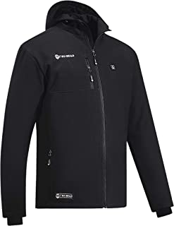 Red Bear Soft Shell Heated Jacket w/ Battery Pack   Lightweight Water/Windproof