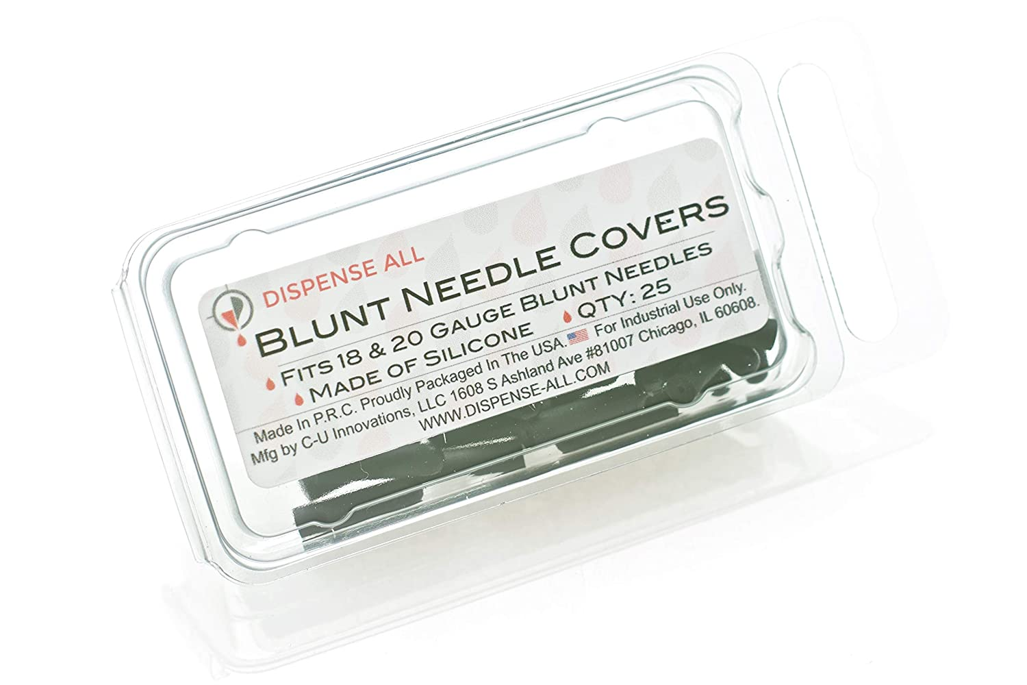 Dispense All - Blunt Needle Covers Q 18 New Free Shipping Fits Black Gauge 20 Oakland Mall
